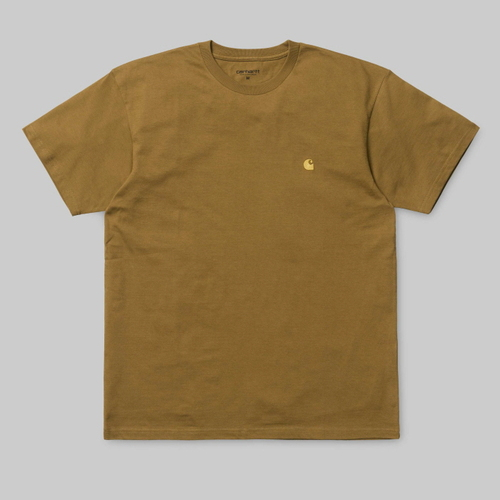 칼하트WIP체이스 티셔츠S/S CHASE T-SHIRTHAMILTON BROWN/GOLD