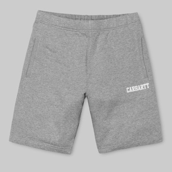 칼하트WIP콜리지 스웻숏츠COLLEGE SWEAT SHORTGREY HEATHER/WHITE
