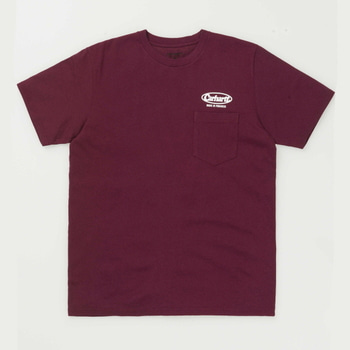 칼하트WIP오발 스크립트 포켓티S/S OVAL SCRIPT POCKET T-SHIRTCHIANTI/WHITE