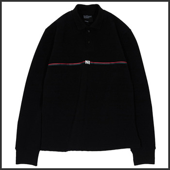 노매뉴얼NM LINE PK SHIRT - BLACK