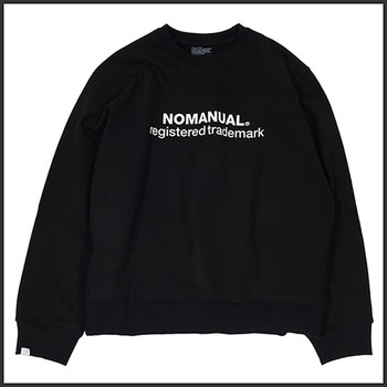 노매뉴얼REGISTERED 'TM' SWEATSHIRT - BLACK