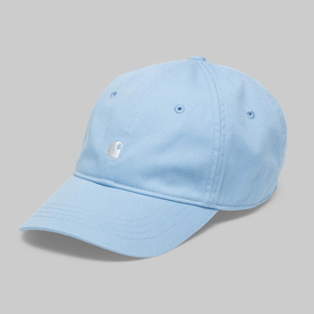 칼하트WIP매디슨 로고캡MADISON LOGO CAPAQUAMARINE/WHITE