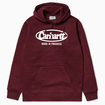 칼하트WIP후디 오발 스웻셔츠HOODED OVAL SWEATSHIRTCHIANTI/WHITE