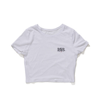 비에스래빗BSR CROP T-SHIRT WHITE