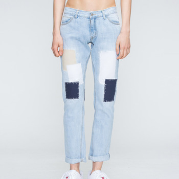 로맨틱크라운 Light Blue Patchwork Pants