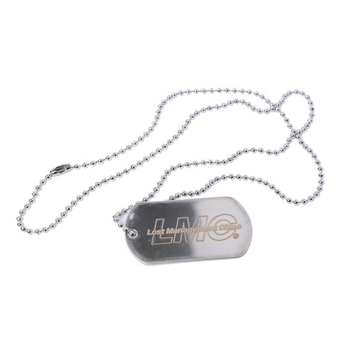 엘엠씨이탤릭 로고 도그택ITALIC LOGO DOG TAG REMADE BY LMCSILVER