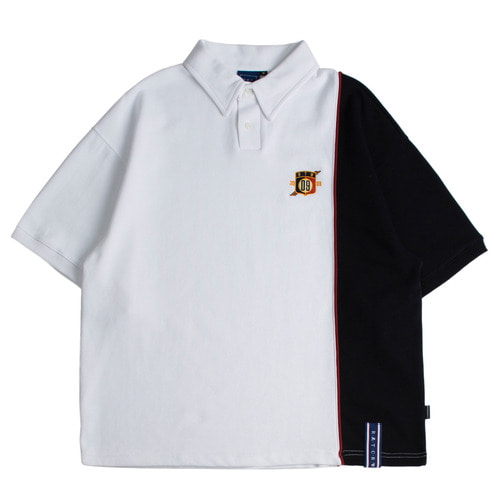 로맨틱크라운 Piping Polo Shirts_White