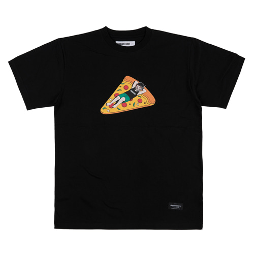 스탠다드커브STV. PIZZA TUBE TEE BLACK
