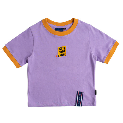 로맨틱크라운 GNAC Crop T Shirt_Purple