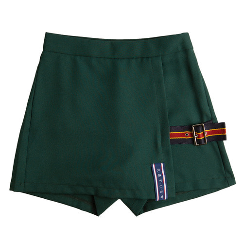 로맨틱크라운 Lap Skirt Pants_Green