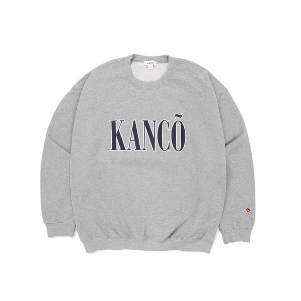 칸코칸코 풀 로고 스웻셔츠KANCO PULL LOGO SWEATSHIRTHEATHER GRAY