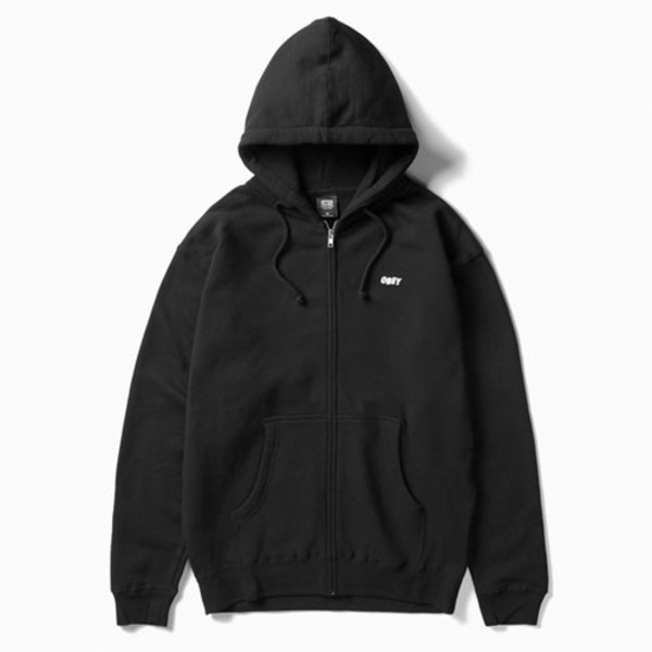 오베이더 크리퍼 집업OBEY THE CREEPER HOOD ZIP UPBLACK