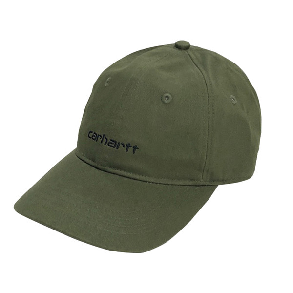 칼하트WIP스크립트 로고 6 패널 캡SCRIPT LOGO 6-PANEL CAPROVER GREEN/BLACK