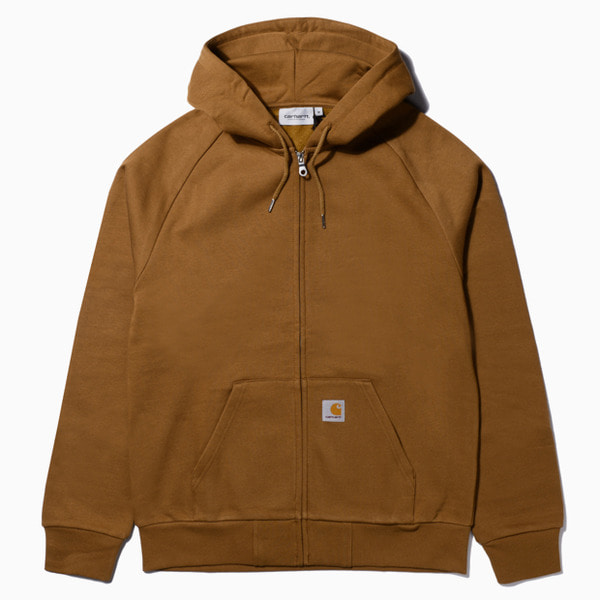 칼하트WIP후드 스퀘어라벨 자켓HOODED SQUARE LABEL JACKETHAMILTON BROWN
