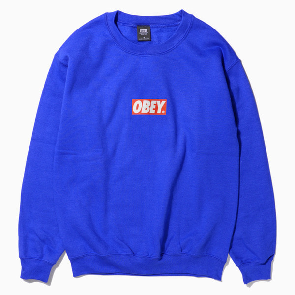 오베이바로고 크루넥BAR LOGO CREW NECKROYAL BLUE