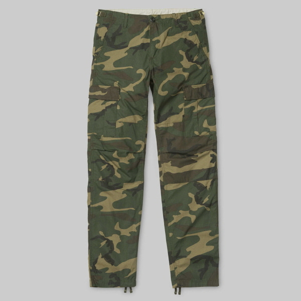 칼하트WIP에비에이션 팬츠 콜롬비아AVIATION PANT COLUMBIA(2)CAMO LAUREL RINSED