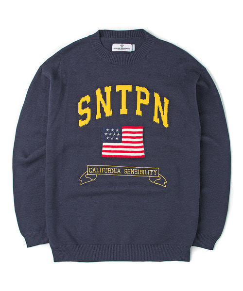 세인트페인SP LITTLE RUSSELL KNIT-NAVY