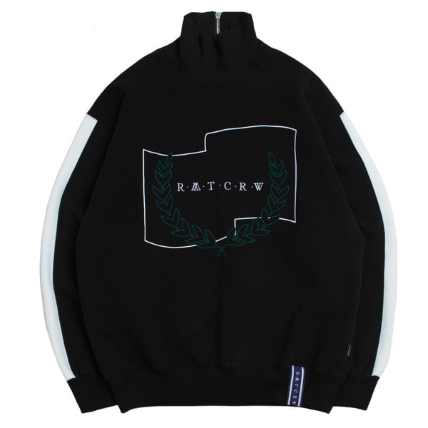 로맨틱크라운 Half Zip Up Turtleneck_Black