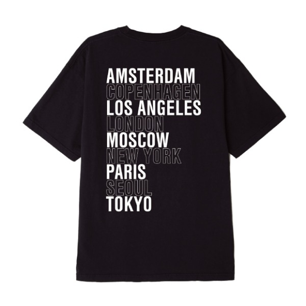 오베이INTL.시티스 반팔티OBEY INTL. CITIES T-SHIRTBLACK
