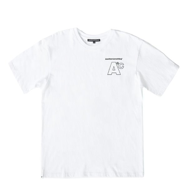 어나더썸씽Basic small logo T-shirts - White