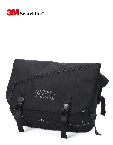3RD WEAVESCOTCH MESSENGER BAG / BLACK-SCOTCH
