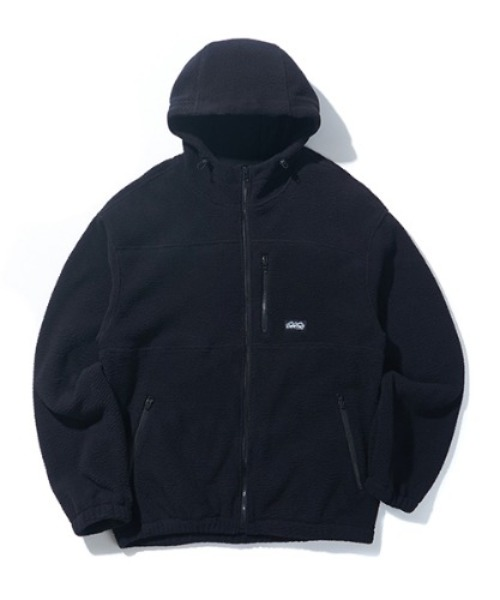 크리틱HOODED FLEECE JACKET (CTONIJK02U)BLACK