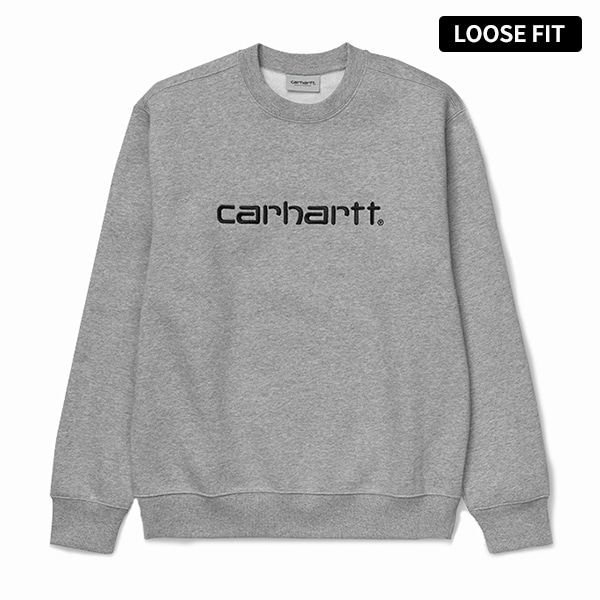 칼하트WIP칼하트 맨투맨CARHARTT SWEATSHIRTGREY HEATHER/BLACK