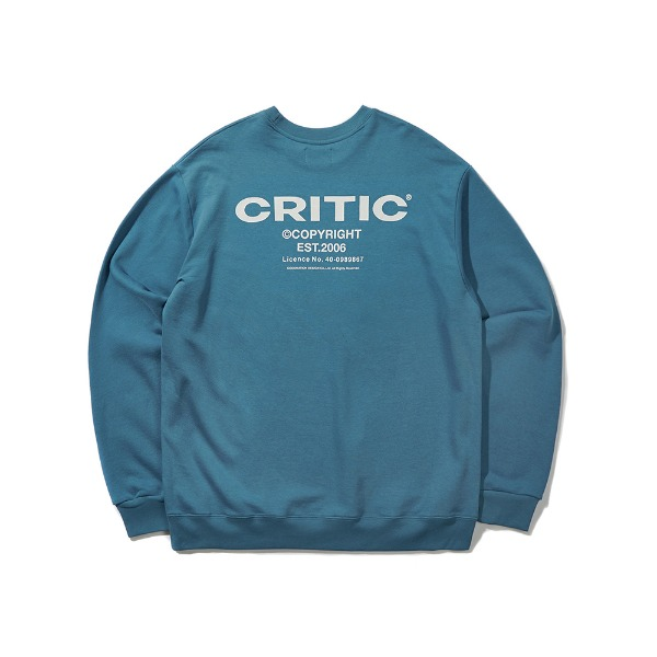 크리틱BACKSIDE LOGO SWEATSHIRT(BLUE GREEN)_CTONICR03UB7