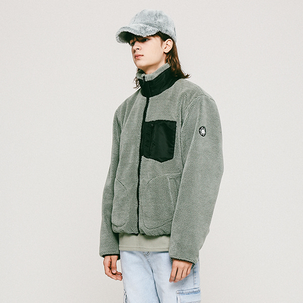 어패럴싯UNISEX FLEECE ZIPUP JACKET GREEN
