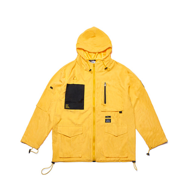 스티그마WASHED TECH WINDBREAKER JACKET YELLOW