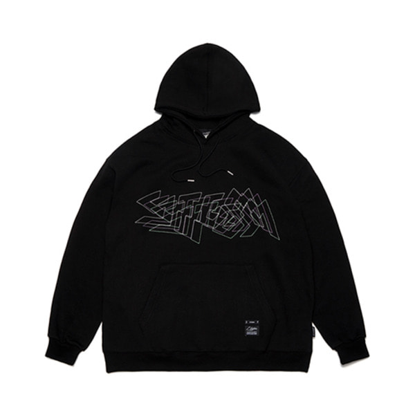 스티그마DOTTED LINE OVERSIZED HEAVY SWEAT HOODIE BLACK