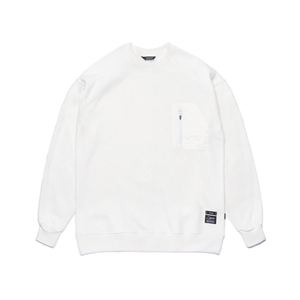 스티그마STGM TECH OVERSIZED HEAVY SWEAT CREWNECK WHITE