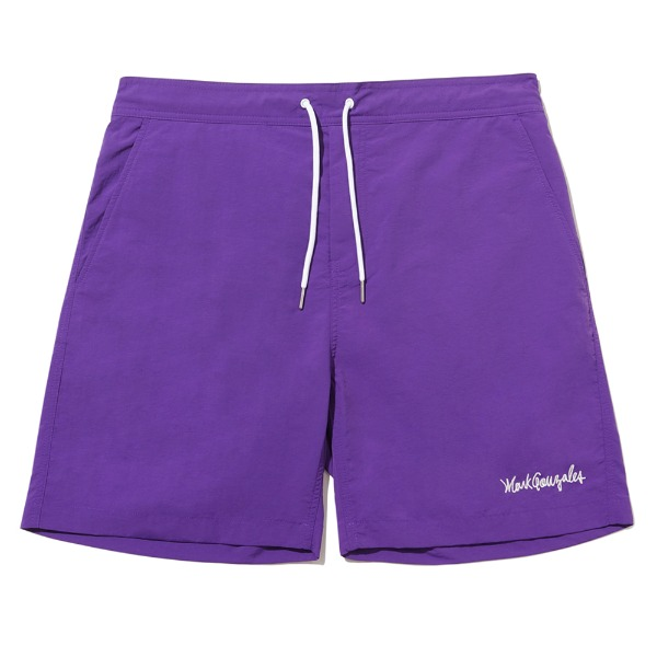 마크곤잘레스SIGN LOGO BEACH SHORTSPURPLE