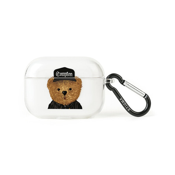 스티그마AirPods Pro CASE COMPTON BEAR CLEAR