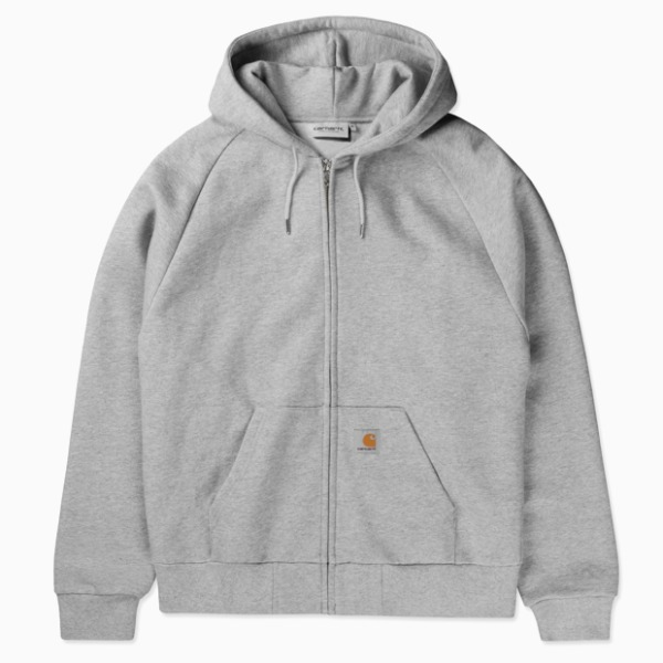 칼하트WIP후드 스퀘어라벨 자켓HOODED SQUARE LABEL JACKETGREY HEATHER
