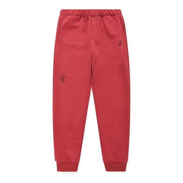 포스3334-LEAF CLOVER JOGGERS/RED