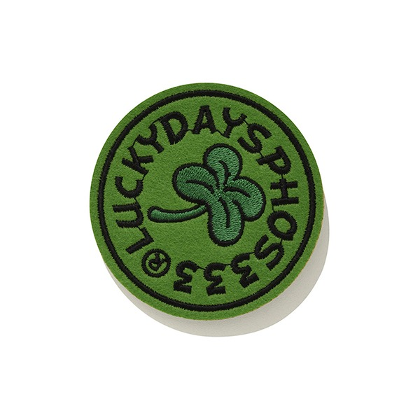 포스333 LUCKT CHARMS CLOVER WAPPEN BADGE A/LIME GREEN