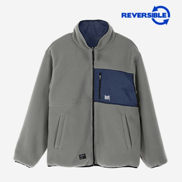브라운브레스TAG REVERSIBLE FLEECE JACKET (GREY)
