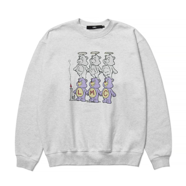 엘엠씨쓰리베어스 맨투맨LMC THREE BEARS SWEATSHIRT (Heather Gray)
