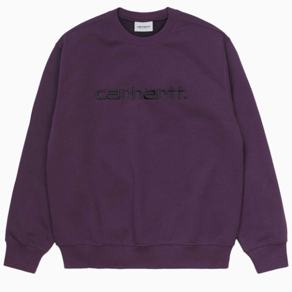칼하트WIP칼하트 맨투맨CARHARTT SWEATSHIRT(BOYSENBERRY/BLACK)
