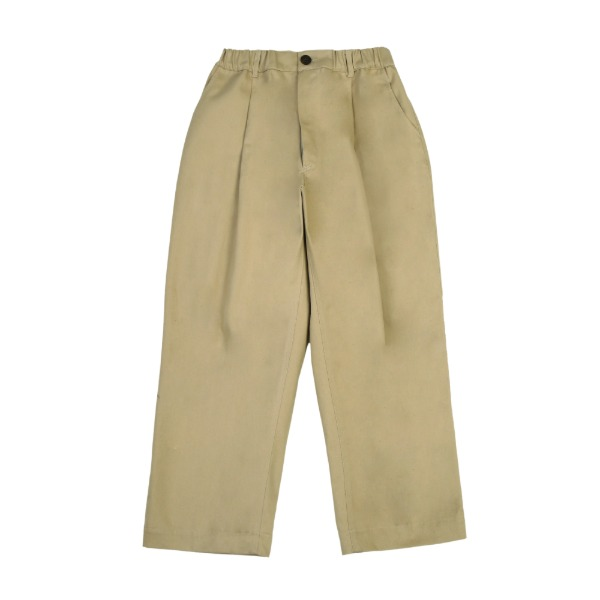 라운지 에이피티 Deep One-Tuck Wide Chino Pants_Midnight Beige