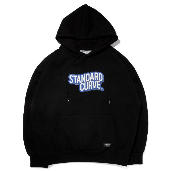 스탠다드커브STV. 20 WAVE LOGO HOODY BLACK
