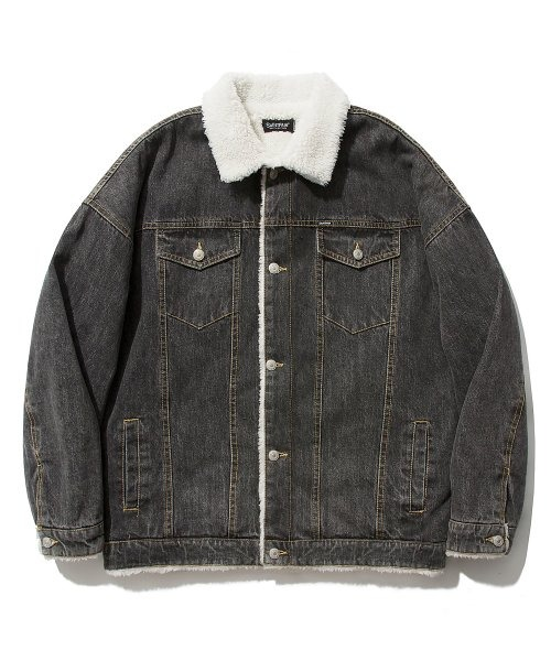 세인트페인BOA DENIM TRUCKER JACKET (BLACK)