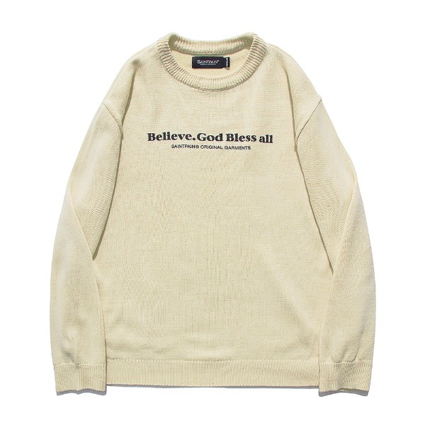세인트페인SP BEILEVE SEMI OVER KNIT (BEIGE)