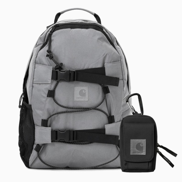 칼하트WIP올스카치 킥플립 백팩FLECT KICKFLIP BACKPACK (Reflective Grey)