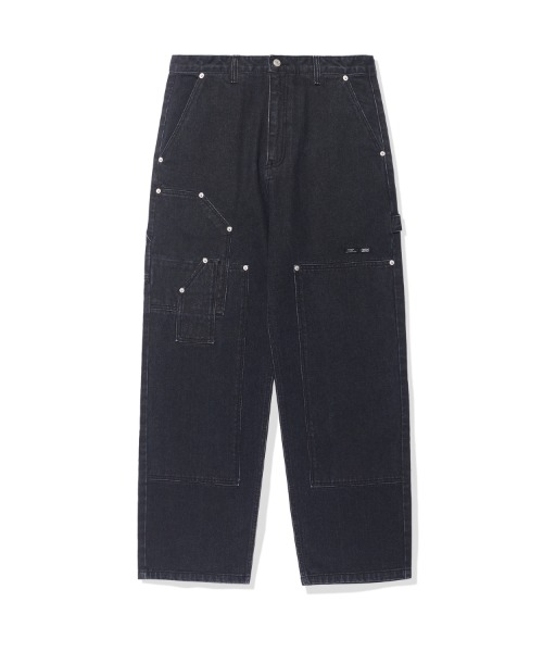 크리틱PATCHWORK DENIM PANTS (BLACK)