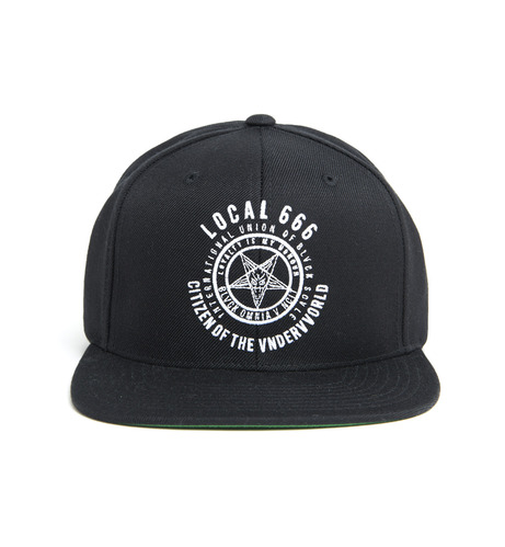 2014 F/W 블랙스케일 Local 666 Snap Back Black