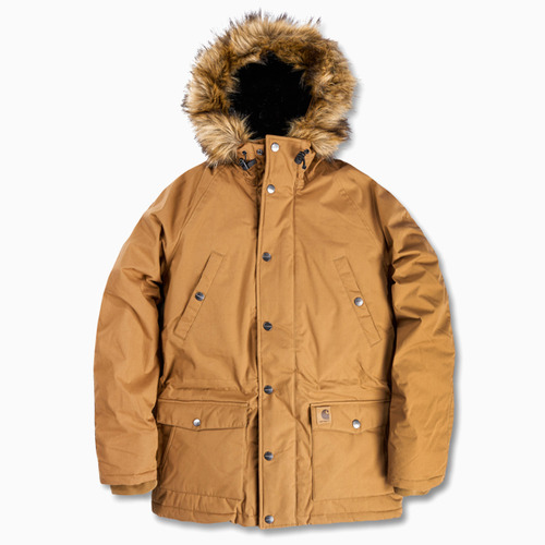 칼하트WIP트래퍼 파카TRAPPER PARKAHAMILTON BROWN/BLACK