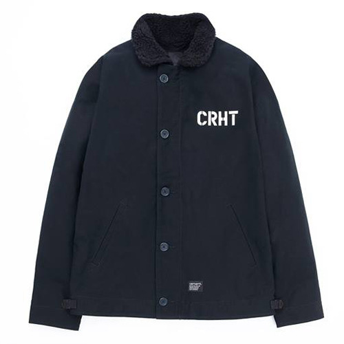 칼하트WIPCRHT JACKETBLACK/BLACK RINSED