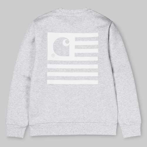 STATE FLAG SWEATSHIRTASH HEATHER/WHITE 재입고